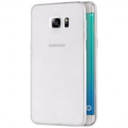Kieto silikono (TPU) dėklas - skaidrus (Galaxy S6 Edge+)