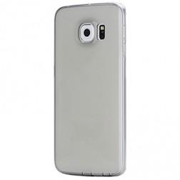 Ploniausias TPU skaidrus dėklas - pilkas (Galaxy S6 Edge)