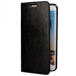 """""""Faux Leather"""" atverčiamas dėklas - juodas (Galaxy S6 Edge+)"""