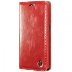 """""""CaseMe"""" solidus atverčiamas dėklas - raudonas (Galaxy S6 Edge+)"""