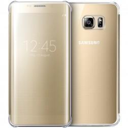 """""""Samsung"""" Clear View Cover atverčiamas dėklas - auksinis (Galaxy S6 Edge+)"""