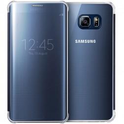 """Samsung"" Clear View Cover atverčiamas dėklas - mėlynas (Galaxy S6 Edge+)"