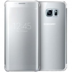 """""""Samsung"""" Clear View Cover atverčiamas dėklas - sidabrinis (Galaxy S6 Edge+)"""