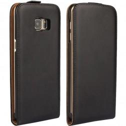 Klasikinis atverčiamas dėklas - juodas (Galaxy S6 Edge+)