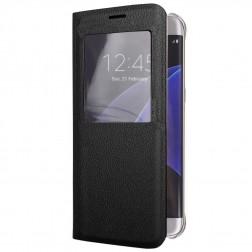 Atverčiamas dėklas su langeliu - juodas (Galaxy S6 Edge+)
