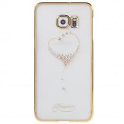 """""""Kingxbar"""" Love Swarovski dėklas - auksinis (Galaxy S6 Edge+)"""