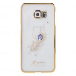 """""""Kingxbar"""" Peacock Swarovski dėklas - auksinis (Galaxy S6 Edge+)"""