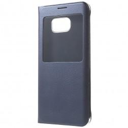 Atverčiamas dėklas su langeliu - mėlynas (Galaxy S6 Edge+)