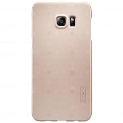 """""""Nillkin"""" Frosted Shield dėklas - auksinis + apsauginė ekrano plėvelė (Galaxy S6 Edge+)"""