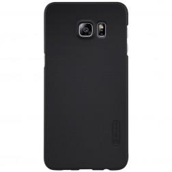 """""""Nillkin"""" Frosted Shield dėklas - juodas + apsauginė ekrano plėvelė (Galaxy S6 Edge+)"""