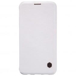"""""""Nillkin"""" Qin atverčiamas dėklas - baltas (Galaxy S6 Edge+)"""