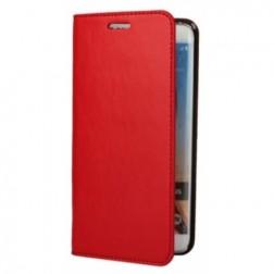 """""""Faux Leather"""" atverčiamas dėklas - raudonas (Galaxy S6 Edge+)"""
