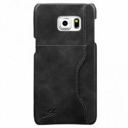 """""""Retro"""" Luxury dėklas su kišenėle - pilkas (Galaxy S6 Edge+)"""