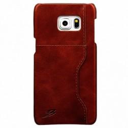 """""""Retro"""" Luxury dėklas su kišenėle - rudas (Galaxy S6 Edge+)"""