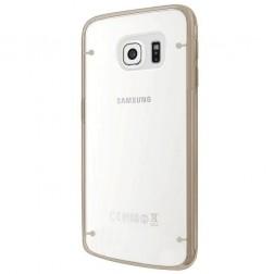 Plastikinis skaidrus dėklas, auksinis (Galaxy S6 Edge+)