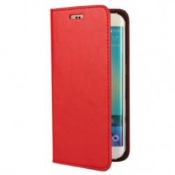 """""""Faux Leather"""" atverčiamas dėklas - raudonas (Galaxy S6 Edge)"""