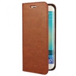 """""""Faux Leather"""" atverčiamas dėklas - rudas (Galaxy S6 Edge)"""