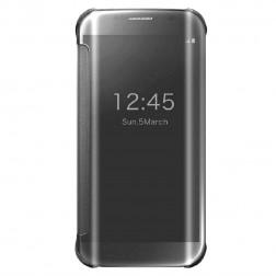 Plastikinis atverčiamas dėklas - sidabrinis (Galaxy S6 Edge)