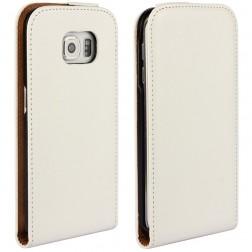 Klasikinis atverčiamas dėklas - baltas (Galaxy S6 Edge)