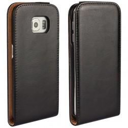 Klasikinis atverčiamas dėklas - juodas (Galaxy S6 Edge)