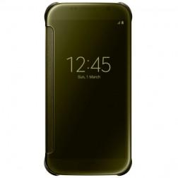 """""""Samsung"""" Clear View Cover atverčiamas dėklas - auksinis (Galaxy S6)"""