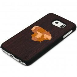 """""""Crafted Cover"""" natūralaus medžio dėklas - Lietuva (Galaxy S6)"""
