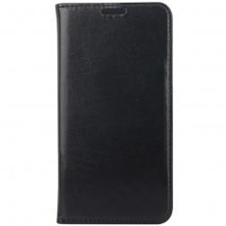 Solidus atverčiamas odinis dėklas - juodas (Galaxy S6)