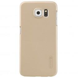 """""""Nillkin"""" Frosted Shield dėklas - auksinis + apsauginė ekrano plėvelė (Galaxy S6)"""