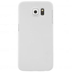 """""""Nillkin"""" Frosted Shield dėklas - baltas + apsauginė ekrano plėvelė (Galaxy S6)"""