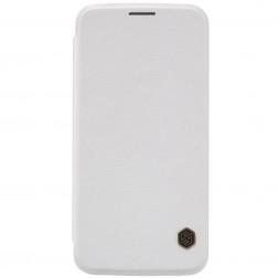 """""""Nillkin"""" Qin atverčiamas dėklas - baltas (Galaxy S6)"""