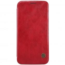 """""""Nillkin"""" Qin atverčiamas dėklas - raudonas (Galaxy S6)"""