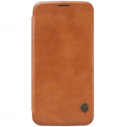"""""""Nillkin"""" Qin atverčiamas dėklas - rudas (Galaxy S6)"""