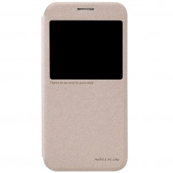 """""""Nillkin"""" Sparkle atverčiamas dėklas - auksinis (Galaxy S6)"""