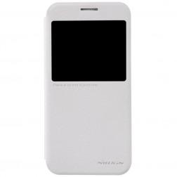 """""""Nillkin"""" Sparkle atverčiamas dėklas - baltas (Galaxy S6)"""