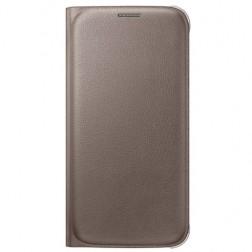 """""""Samsung"""" Flip Wallet atverčiamas dėklas - auksinis (Galaxy S6)"""