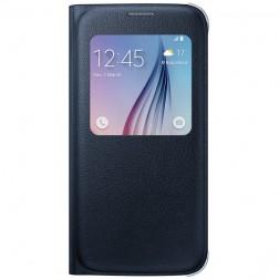 """""""Samsung"""" S View Cover atverčiamas dėklas - juodas (Galaxy S6)"""