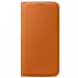 """""""Samsung"""" Flip Wallet Cover atverčiamas dėklas - oranžinis (Galaxy S6)"""
