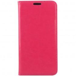 Solidus atverčiamas odinis dėklas - rožinis (Galaxy S6)