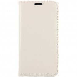 Solidus atverčiamas odinis dėklas - smėlio spalvos (Galaxy S6)
