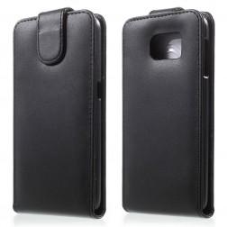 Vertikaliai atverčiamas dėklas - juodas (Galaxy S6)