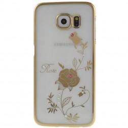 """""""Kingxbar"""" Rose Swarovski dėklas - auksinis (Galaxy S6)"""