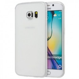 Kieto silikono (TPU) matinis dėklas - baltas (Galaxy S6)