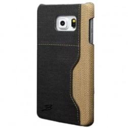 """""""Vintage"""" Leather dėklas su kišenėle - pilkas (Galaxy S6)"""