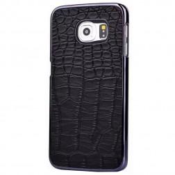 Dėklas su krokodilo odos imitacija - juodas (Galaxy S6)