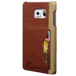 """""""Vintage"""" Leather dėklas su kišenėle - rudas (Galaxy S6)"""
