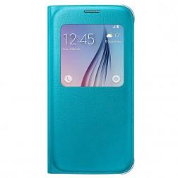 """""""Samsung"""" S View Cover atverčiamas dėklas - šviesiai mėlynas (Galaxy S6)"""