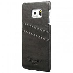 """""""Vintage"""" dėklas su kišenėle - pilkas (Galaxy S6)"""