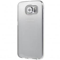 Kieto silikono (TPU) dėklas - skaidrus, pilkas (Galaxy S6)