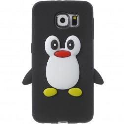 Žaismingas silikoninis dėklas - pingvinas (Galaxy S6)