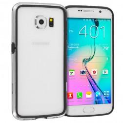 Rėmelis (bamperis) - skaidrus, juodas (Galaxy S6)